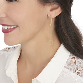 Boucles D'oreilles Pendantes Florent Or Jaune - Boucles d'oreilles pendantes Femme | Histoire d'Or