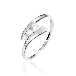 Bague Chrysta Or Blanc Diamant - Bagues avec pierre Femme | Histoire d'Or