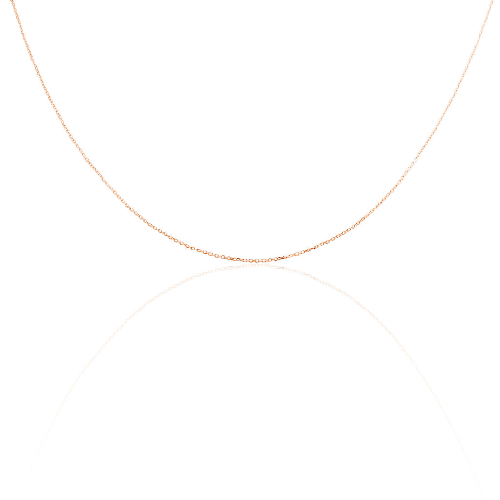 Chaîne Maille Forçat Diamantee Or Rose - Chaines Femme | Histoire d'Or