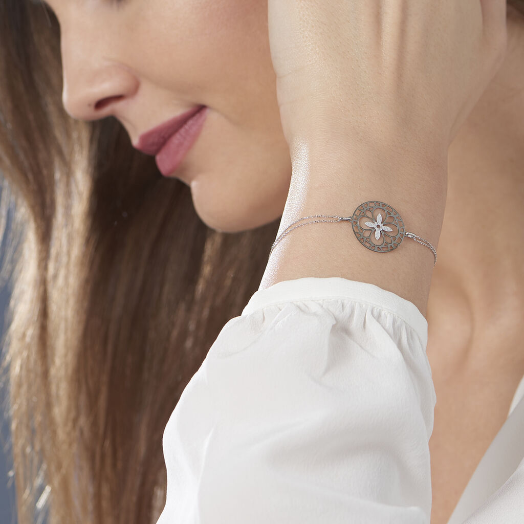 Bracelet Trefle Or Blanc - Bracelets Trèfle Femme   Histoire d'Or