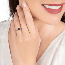 Bague Alyse Or Blanc Saphir Et Diamant - Bagues avec pierre Femme | Histoire d'Or