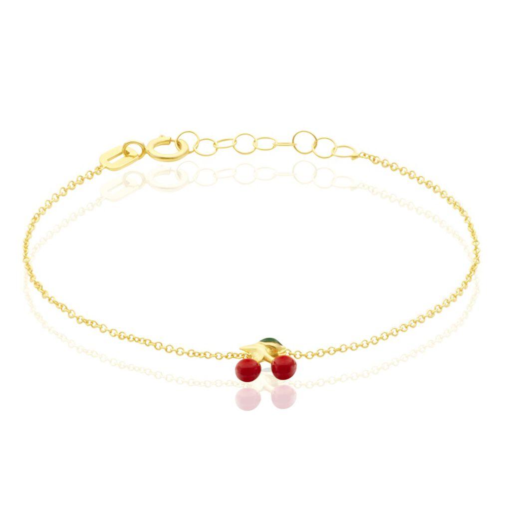 Bracelet Cherry Cerise Or Jaune - Bracelets Naissance Enfant | Histoire d'Or