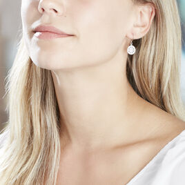 Boucles D'oreilles Pendantes Brunilda Argent Blanc Oxyde De Zirconium - Boucles d'oreilles fantaisie Femme | Histoire d'Or