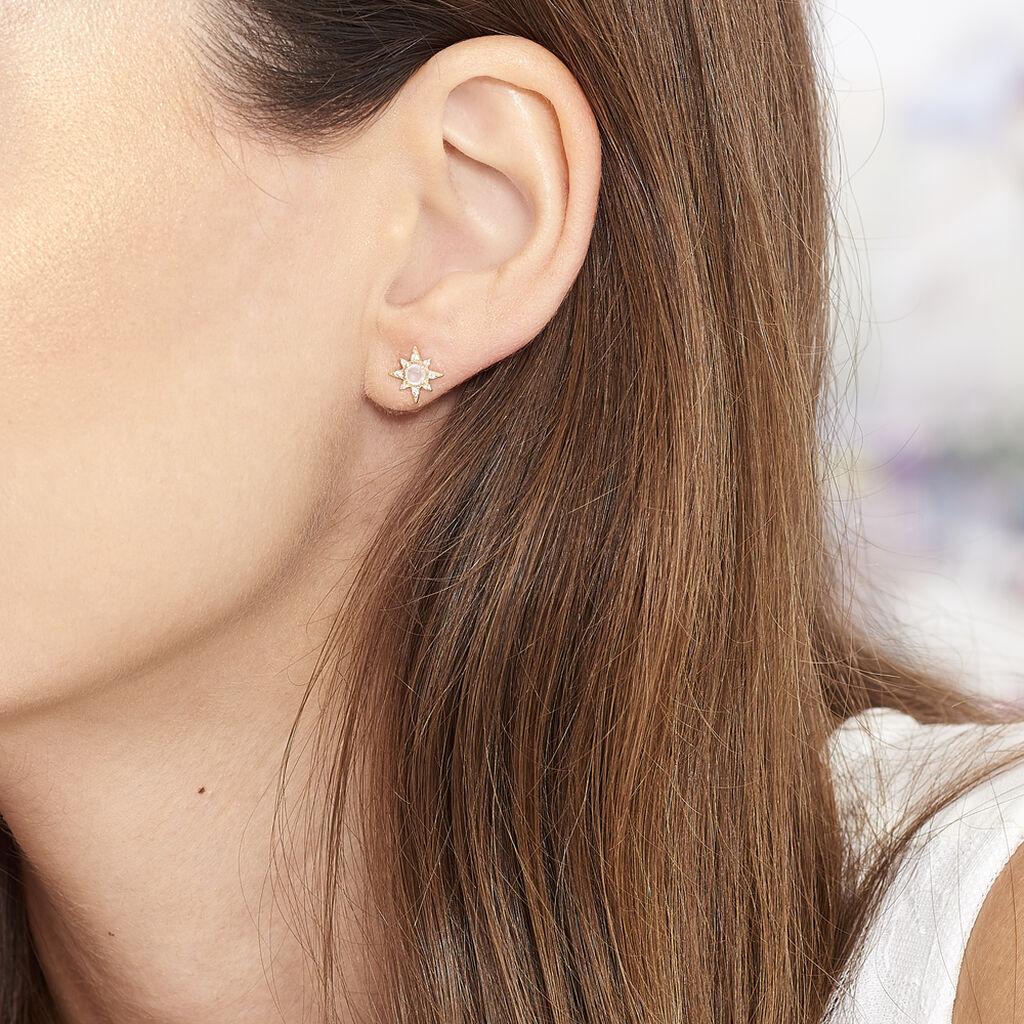 Boucles D'oreilles Or Jaune Etoile Terry - Boucles d'Oreilles Etoile Femme | Histoire d'Or
