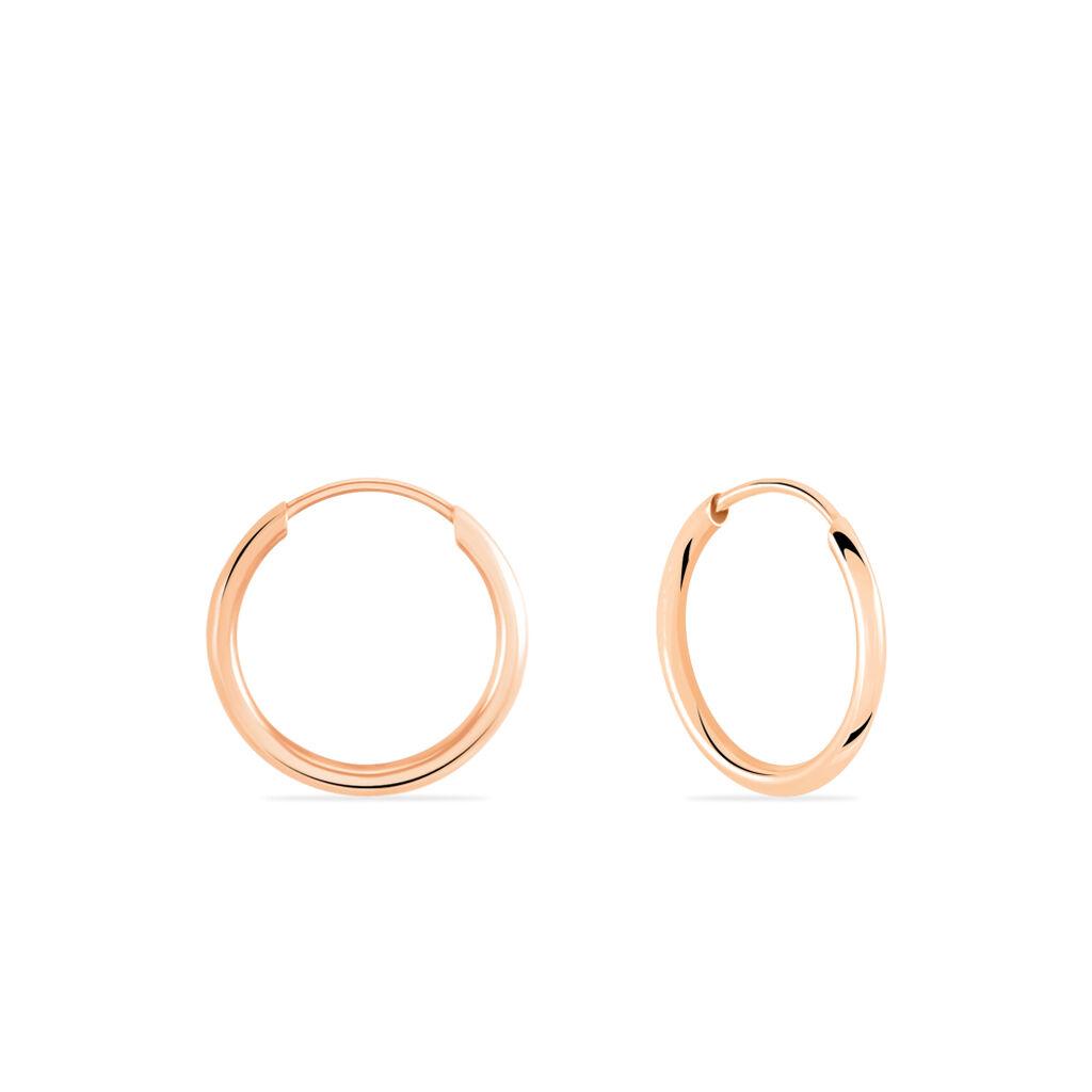 Créoles Dominae Flexible Rondes Or Rose - Boucles d'oreilles créoles Femme | Histoire d'Or