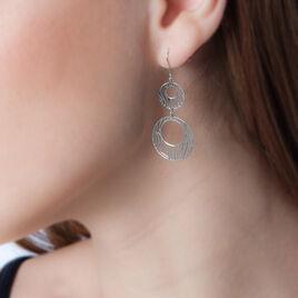 Boucles D'oreilles Pendantes Africa Argent Blanc - Boucles d'oreilles fantaisie Femme | Histoire d'Or