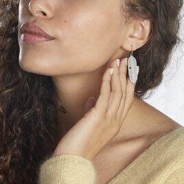 Boucles D'oreilles Pendantes Tia Acier Blanc - Boucles d'Oreilles Plume Femme   Histoire d'Or