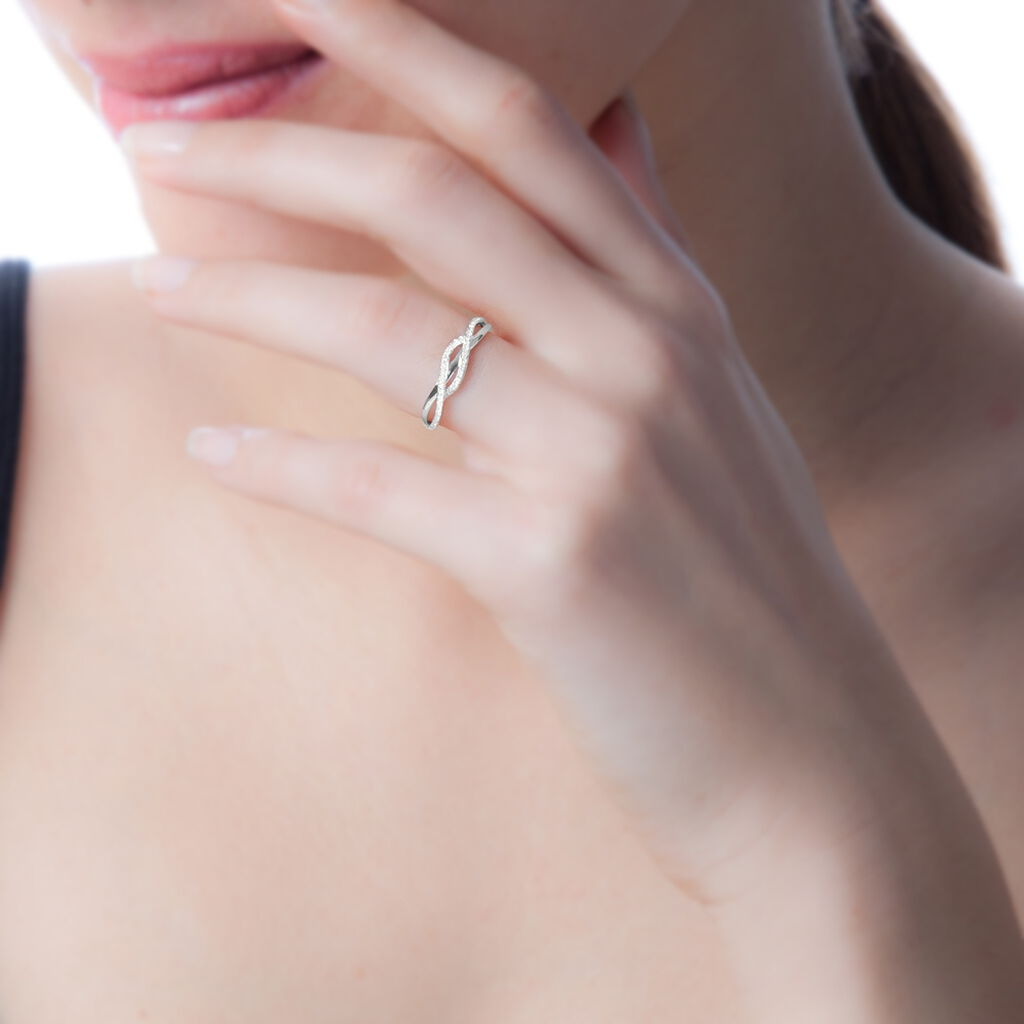 Bague Ursulla Or Blanc Diamant - Bagues avec pierre Femme   Histoire d'Or