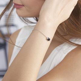 Bracelet Elianne Argent Blanc Oxyde De Zirconium - Bracelets fantaisie Femme   Histoire d'Or