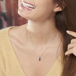 Collier Oia Or Blanc Diamant - Bijoux Femme | Histoire d'Or