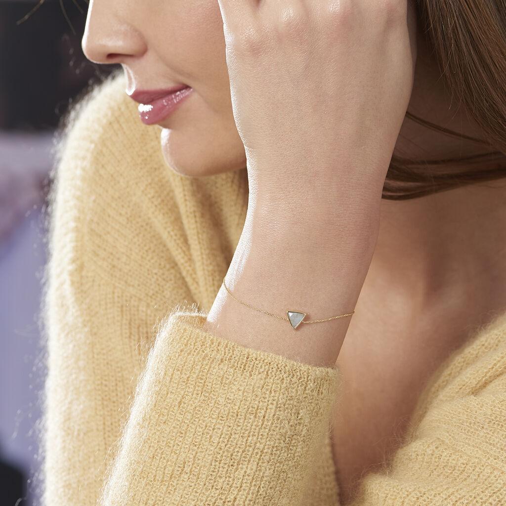 Bracelet Juliete Or Jaune Aigue Marine - Bijoux Femme | Histoire d'Or