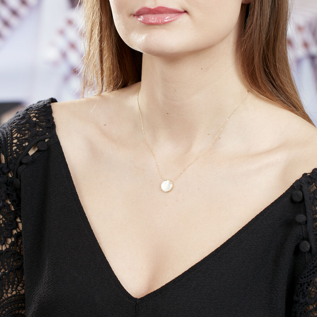 Collier Joana Or Jaune Nacre - Bijoux Femme   Histoire d'Or