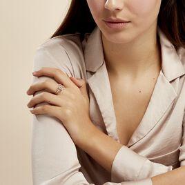 Bague Isabel Argent Blanc Oxyde De Zirconium - Bagues avec pierre Femme | Histoire d'Or