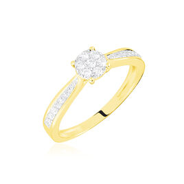 Bague Or Jaune Celia Diamants - Bagues avec pierre Femme | Histoire d'Or