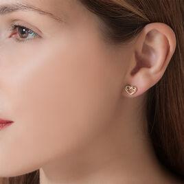 Boucles D'oreilles Puces Yris Plaque Or Jaune - Boucles d'oreilles fantaisie Femme | Histoire d'Or