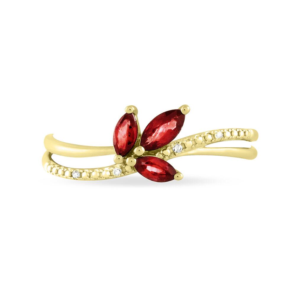 Bague Maura Or Jaune Rubis Et Diamant - Bagues avec pierre Femme | Histoire d'Or