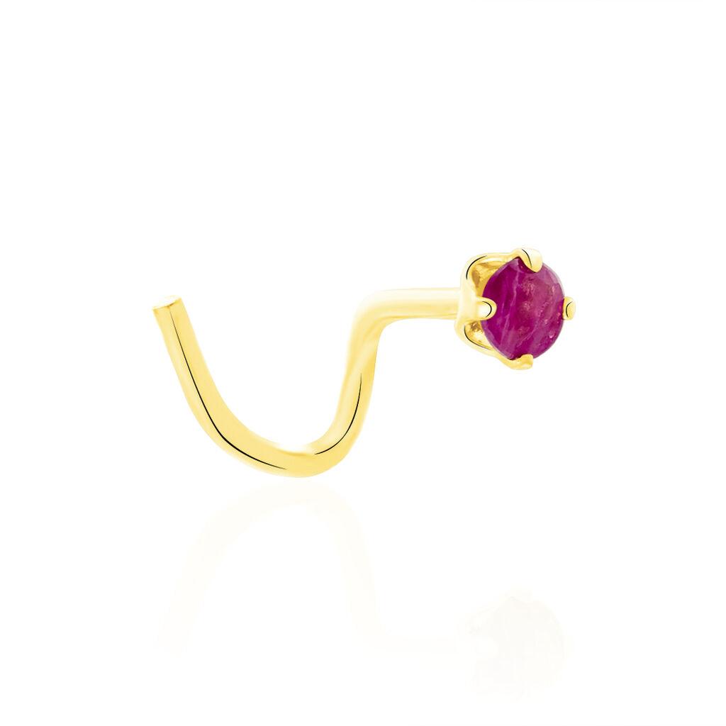 Piercing De Nez Friea Serti Griffe Or Jaune Rubis - Bijoux Femme | Histoire d'Or