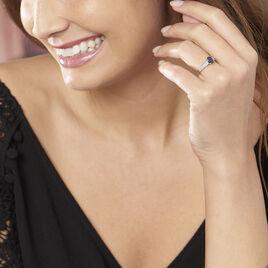 Bague Crista Or Blanc Saphir Et Diamant - Bagues solitaires Femme   Histoire d'Or