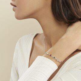 Bracelet Rosalie Argent Blanc Ambre - Bijoux Femme | Histoire d'Or