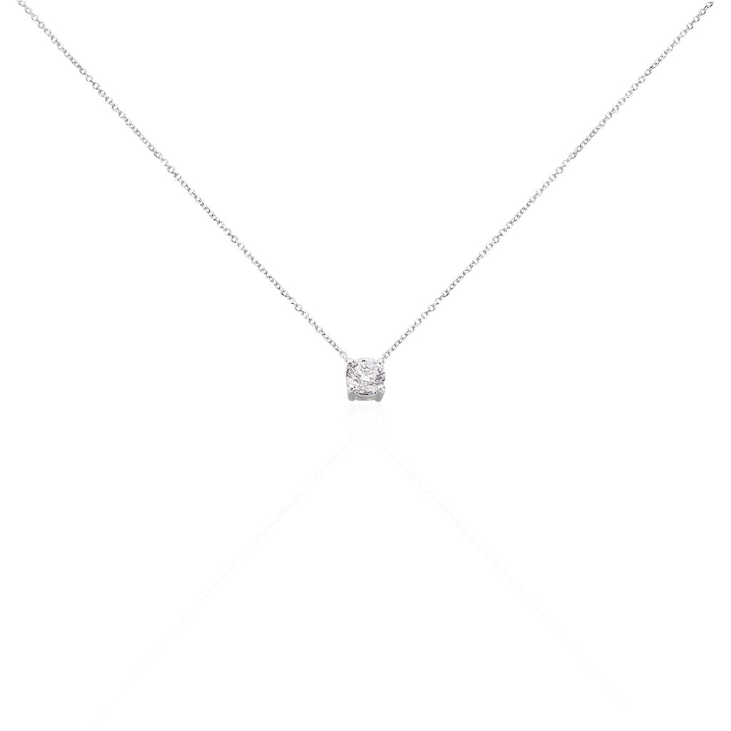 Collier Victoria Or Blanc Diamant - Bijoux Femme   Histoire d'Or