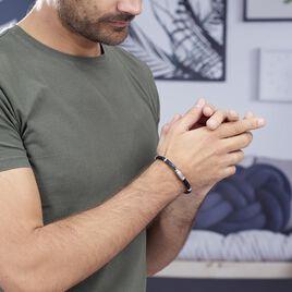 Bracelet Pacome Acier Blanc - Bracelets fantaisie Homme   Histoire d'Or