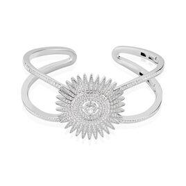 Bracelet Jonc Noele Argent Blanc Oxyde De Zirconium - Bracelets joncs Femme   Histoire d'Or