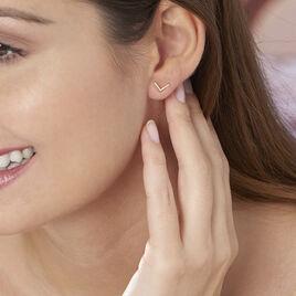 Boucles D'oreilles Puces Ella Or Jaune - Clous d'oreilles Femme | Histoire d'Or