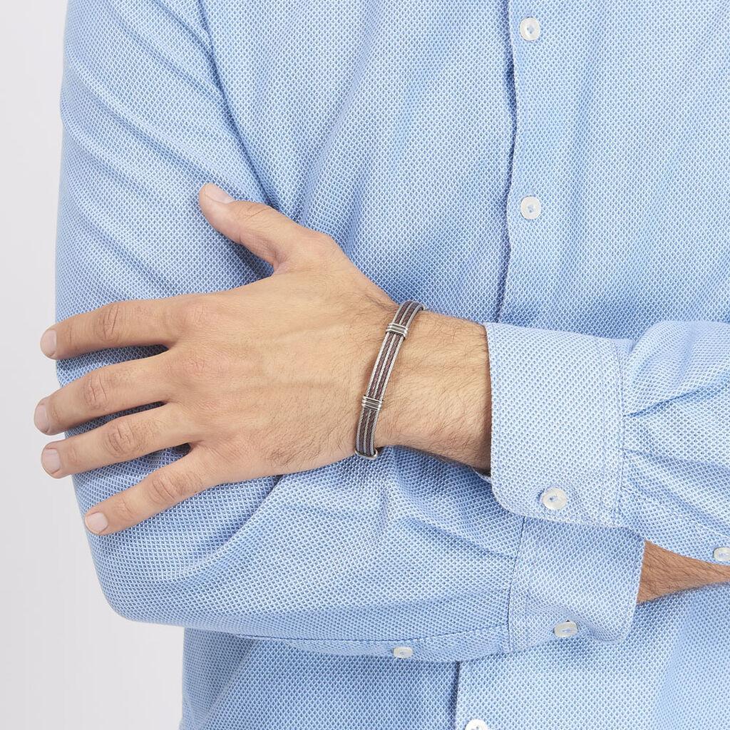 Bracelet Francois Acier Blanc - Bracelets fantaisie Homme   Histoire d'Or