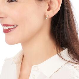Boucles D'oreilles Pendantes Marie-gilberte Plaque Or Oxyde - Boucles d'oreilles fantaisie Femme   Histoire d'Or