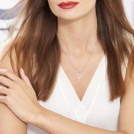Collier Fidela Argent Blanc - Colliers fantaisie Femme   Histoire d'Or