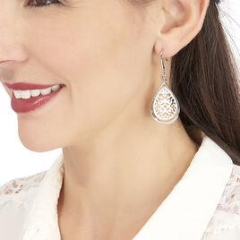 Boucles D'oreilles Pendantes Chacata Acier Blanc - Boucles d'oreilles fantaisie Femme | Histoire d'Or