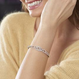 Bracelet Jonc Clothilde Argent Blanc Oxyde De Zirconium - Bracelets joncs Femme | Histoire d'Or