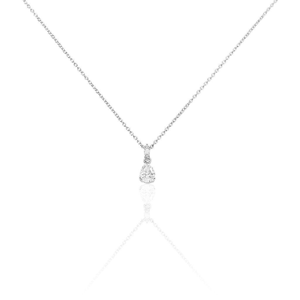 Joyfulshine Collier Femmes Pendentif 18K Plaqu/é Or Cha/îne ou pour Les Cadeau Filles Dames Cristal Quatre Feuilles de Tr/èfle Collier