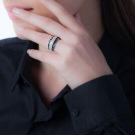 Bague Cihan Or Blanc Diamant - Bagues avec pierre Femme   Histoire d'Or