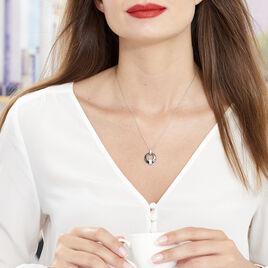 Collier Suzanne Argent Blanc Céramique Et Oxyde De Zirconium - Colliers fantaisie Femme | Histoire d'Or