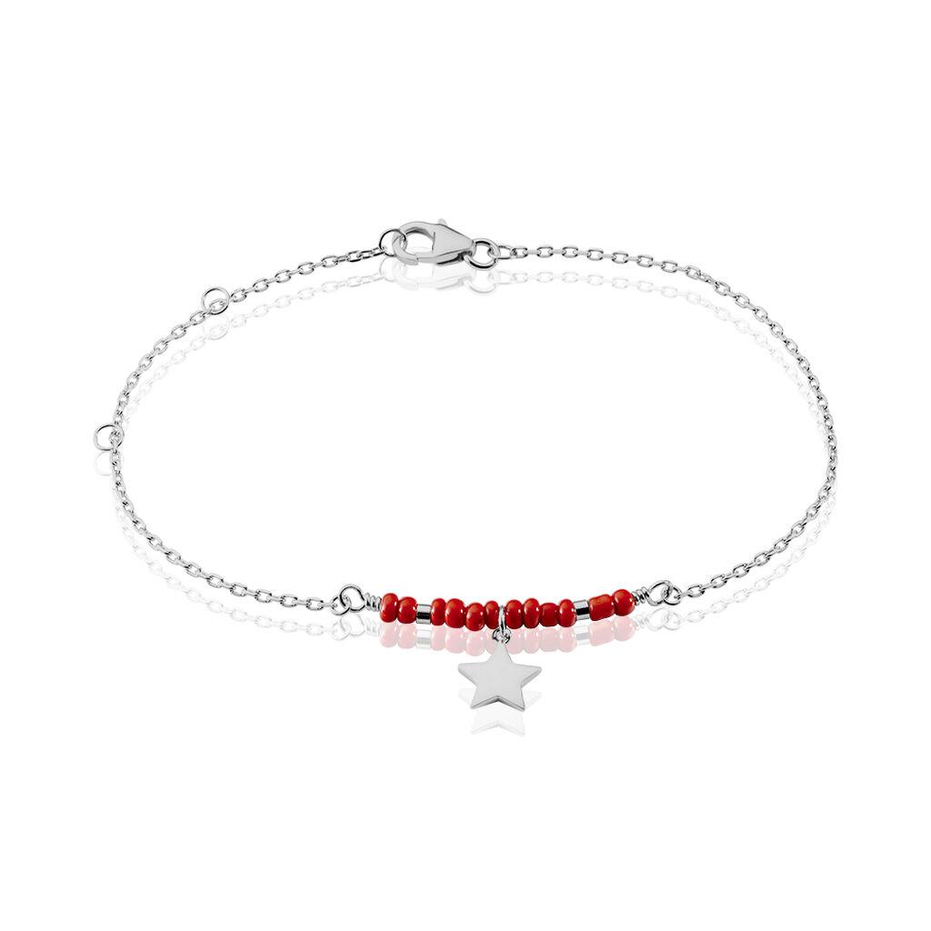 Bracelet Cleore Argent Blanc Perle D'imitation - Bijoux Etoile Femme | Histoire d'Or