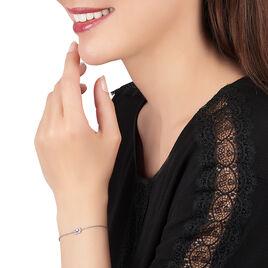 Bracelet Laurine Argent Blanc Oxyde De Zirconium - Bracelets fantaisie Femme | Histoire d'Or