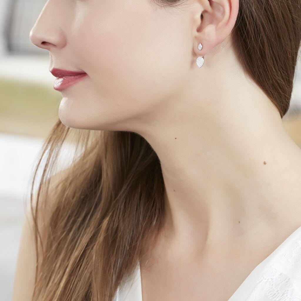 Bijoux D'oreilles Or Blanc Oxyde De Zirconium - Ear cuffs Femme | Histoire d'Or