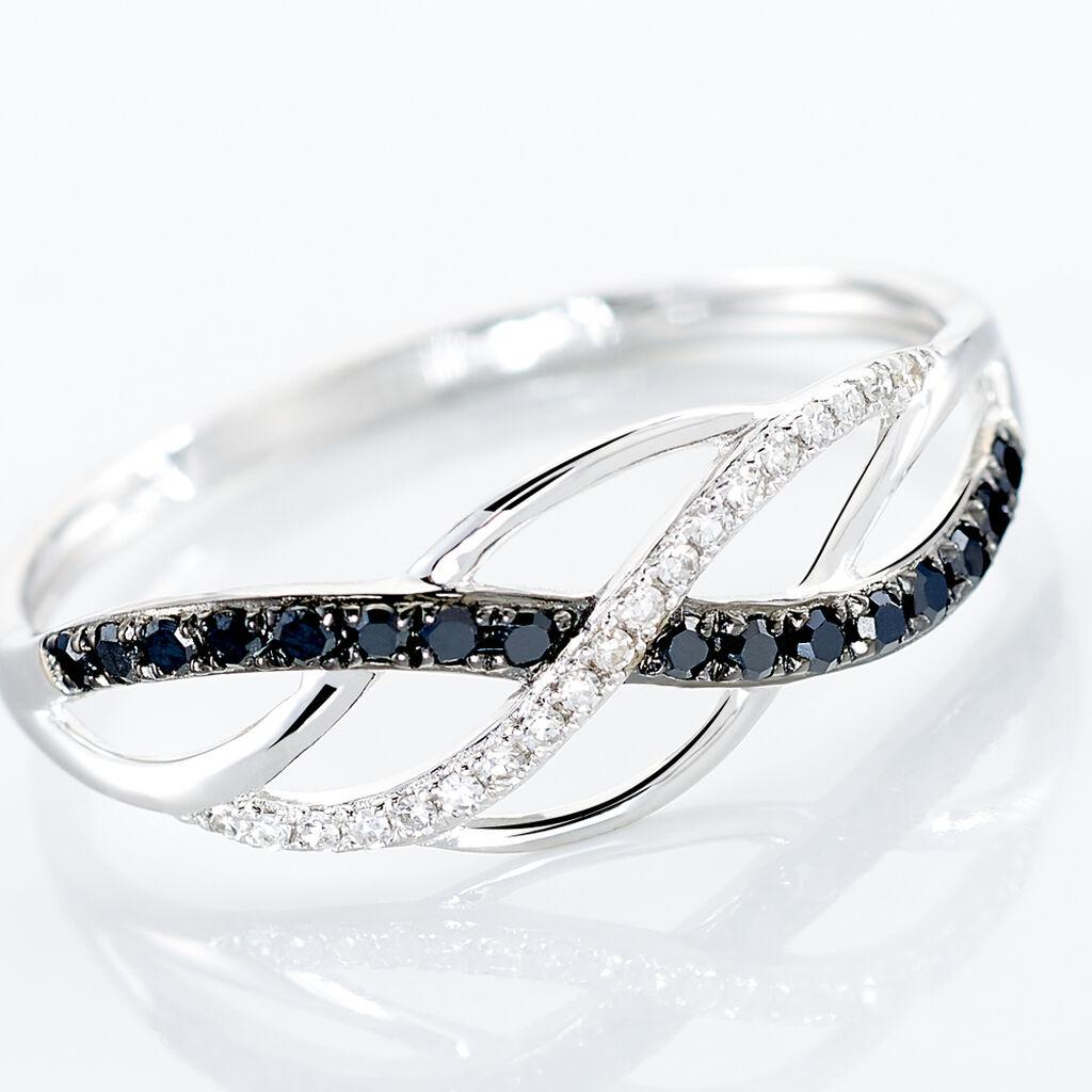 Bague Amara Or Blanc Diamant - Bagues avec pierre Femme   Histoire d'Or