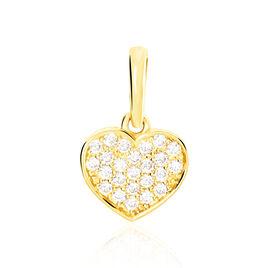 Pendentif Adiel Or Jaune Oxyde De Zirconium - Pendentifs Coeur Femme | Histoire d'Or