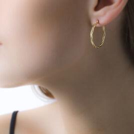 Créoles Youri Torsadees Or Jaune - Boucles d'oreilles créoles Femme   Histoire d'Or