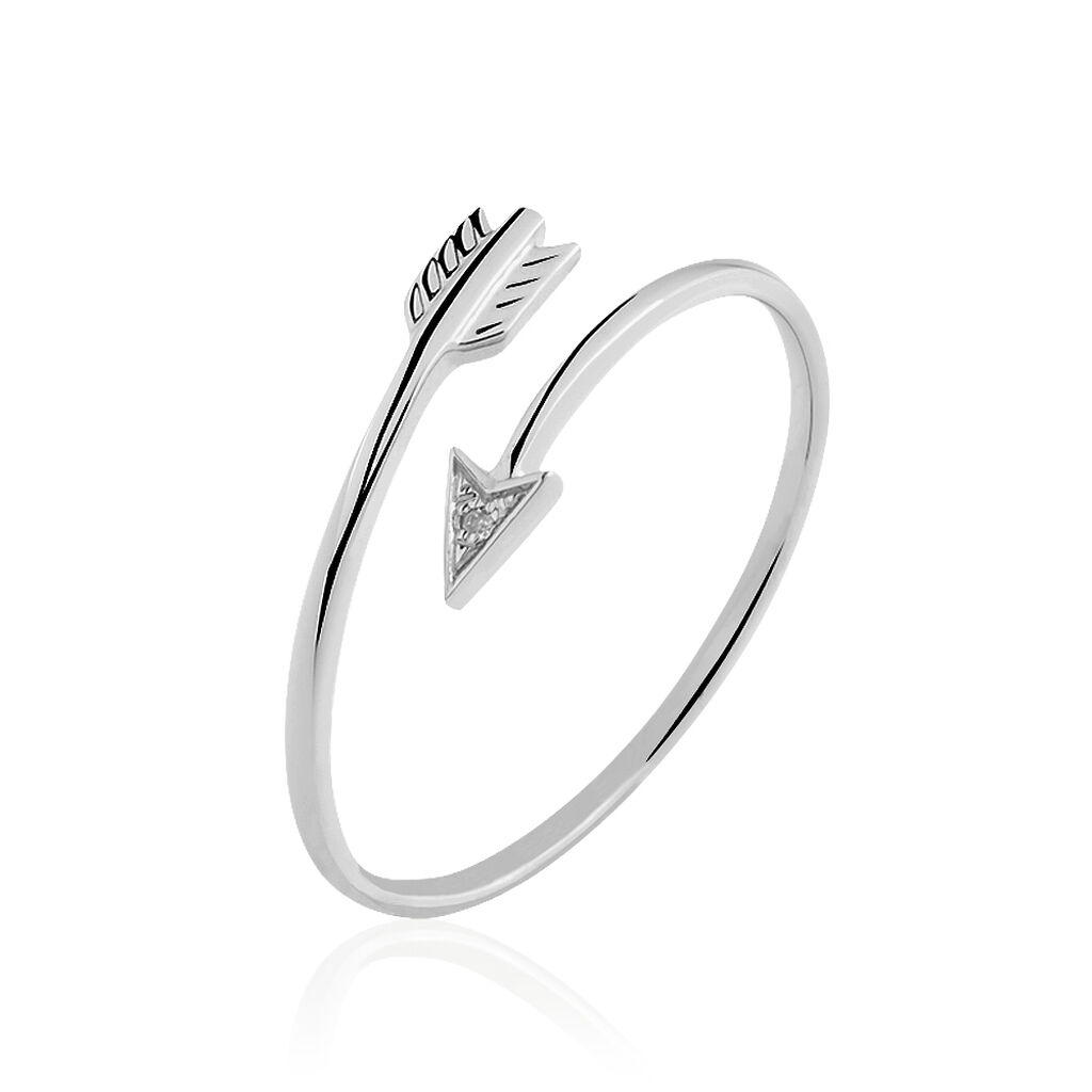 Bague Cupidon Or Blanc Diamant