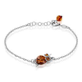 Bracelet Khedija Argent Blanc Ambre - Bracelets fantaisie Femme   Histoire d'Or