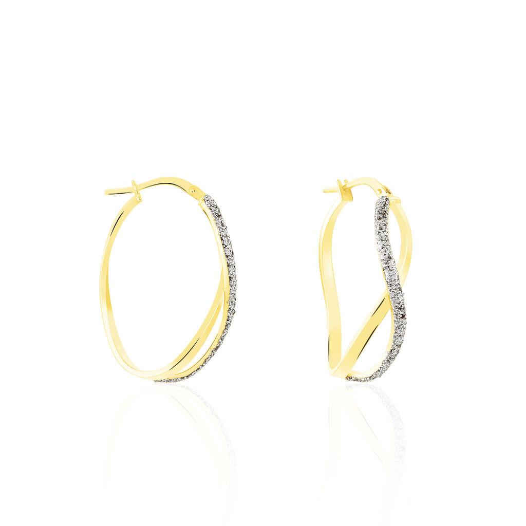 Créoles Micha Vrillees Rondes Or Bicolore - Boucles d'oreilles créoles Femme | Histoire d'Or