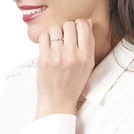 Bague Solitaire Anysia Or Blanc Oxyde De Zirconium - Bagues Coeur Femme | Histoire d'Or