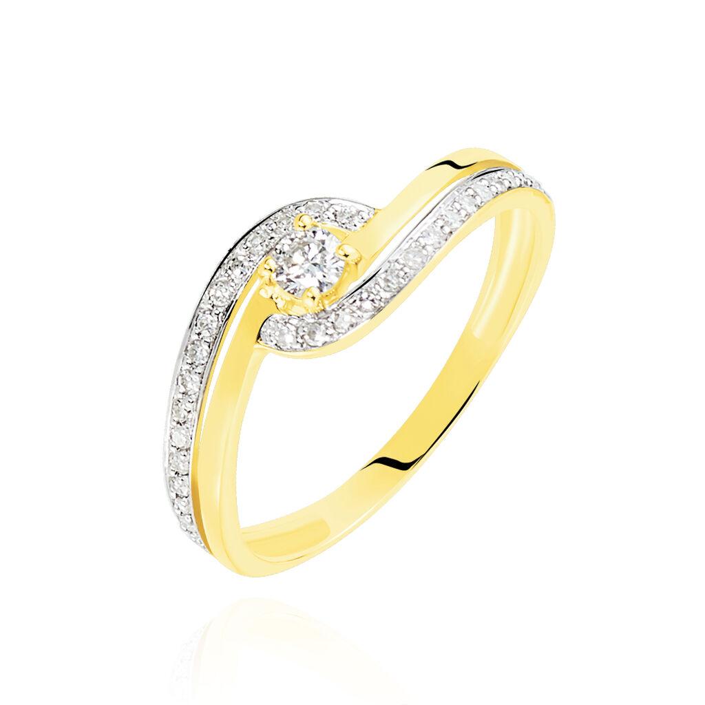 Bague Solitaire Vassilissa Or Jaune Diamant - Bagues solitaires Femme   Histoire d'Or