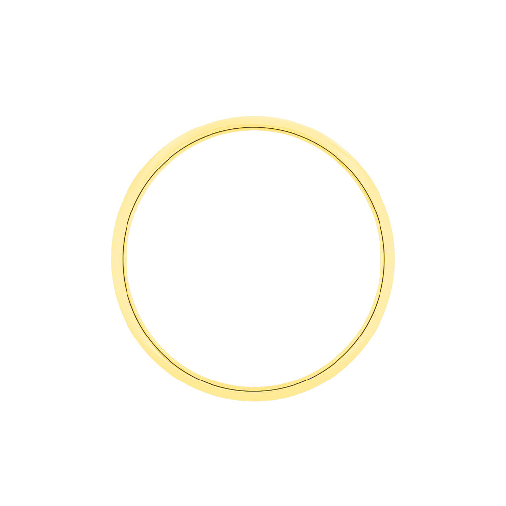 Alliance Aphrodite Ruban Plat Or Jaune - Alliances Unisexe   Histoire d'Or