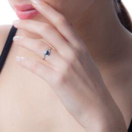 Bague Sagesse Or Blanc Saphir Et Diamant - Bagues solitaires Femme | Histoire d'Or