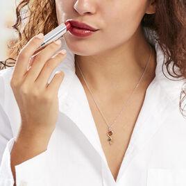 Collier Murriel Argent Blanc Ambre - Colliers fantaisie Femme | Histoire d'Or