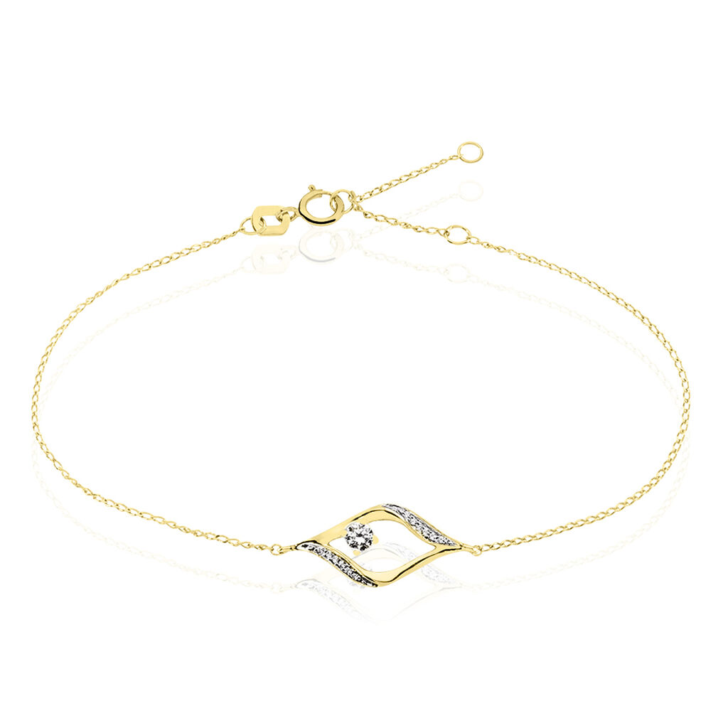 Bracelet Eye Or Jaune Oxyde De Zirconium - Bijoux Femme | Histoire d'Or